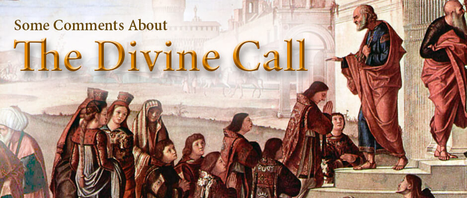 A few notes about the divine call