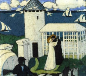 Visitation in Blue by Maurice Denis, 1892