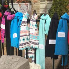 Trinity Woman Make Scarves For Homeless