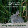 Don't forget to Spring forward! | March 8th